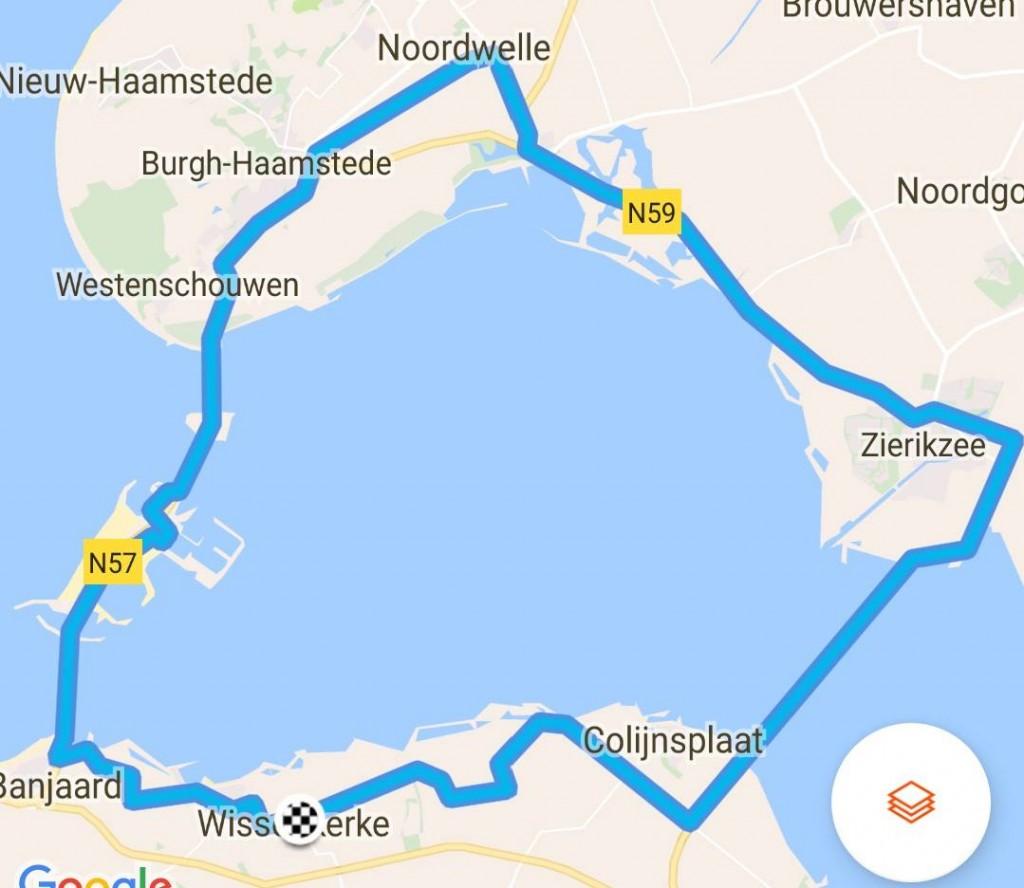 Rondje Schouwen 57 km 30,1 gem.