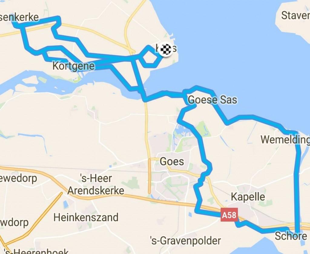 zondag 09-04-2017 98km 30,6 gem.