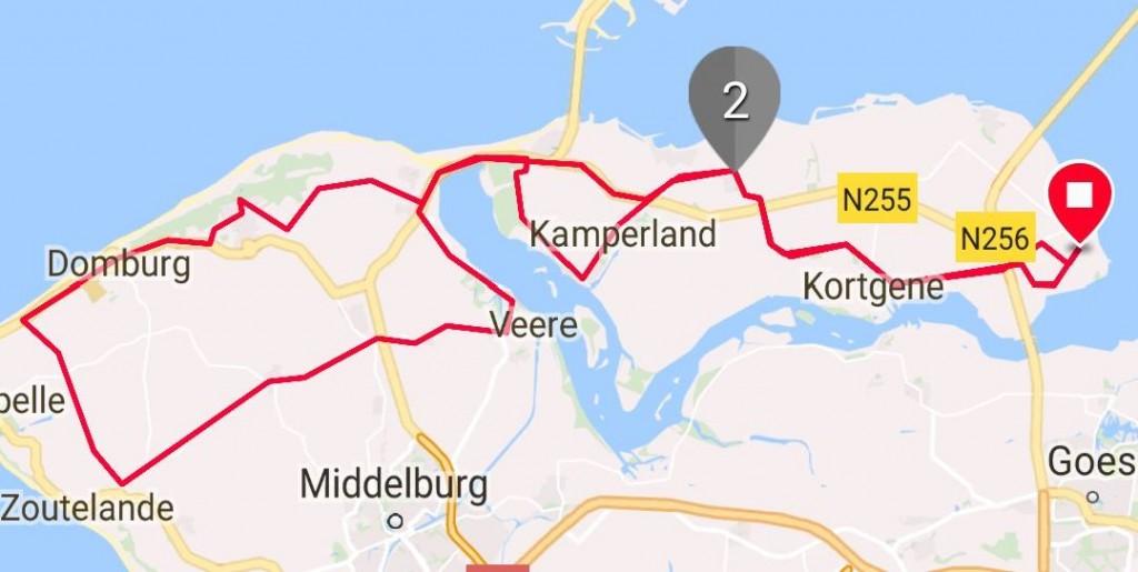 Zondag 22-10-2017 62 km