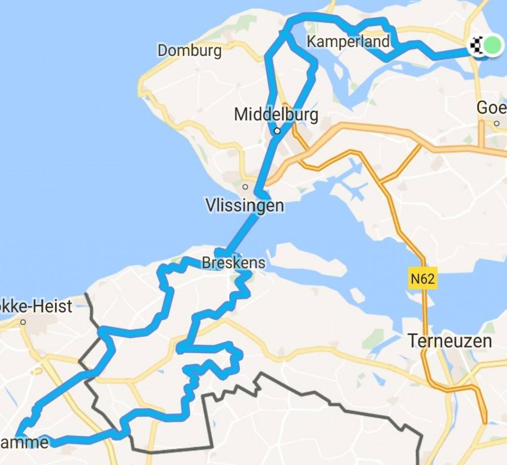 Zondag 27-08-2017 Lange Clubrit Zeeuws Vlaanderen