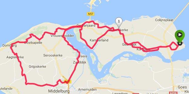 Dinsdag 13-06-2017 62 km