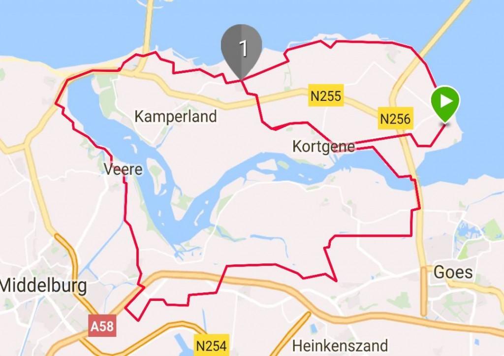 Dinsdag 17-10-2017 58 km