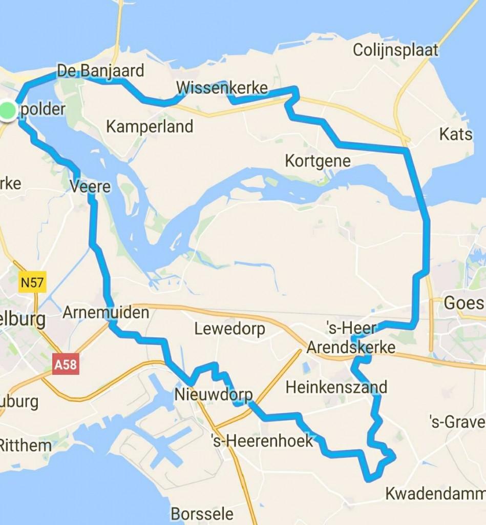 Dinsdag 11-04-2017 69 km.