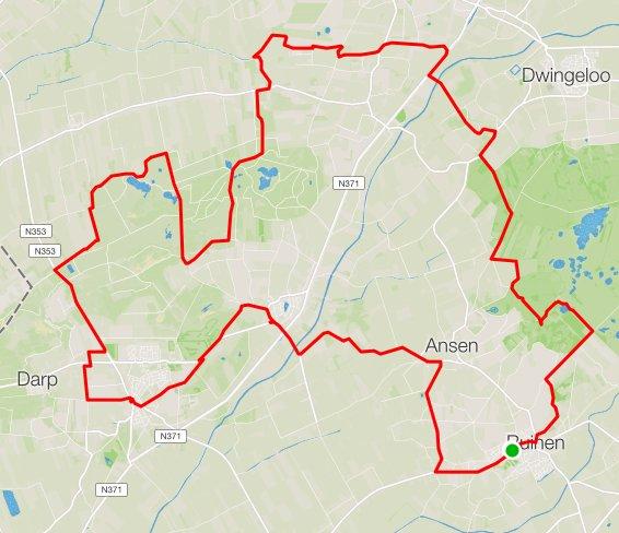 Route Vrijdag 50 km