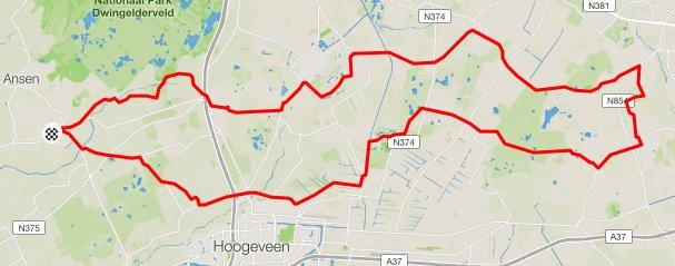 Route maandag 66 km