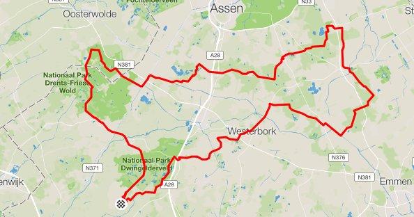 route zondag 141 km