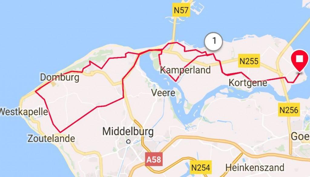 Dinsdag 24-04-2018 59 km 27 gem.