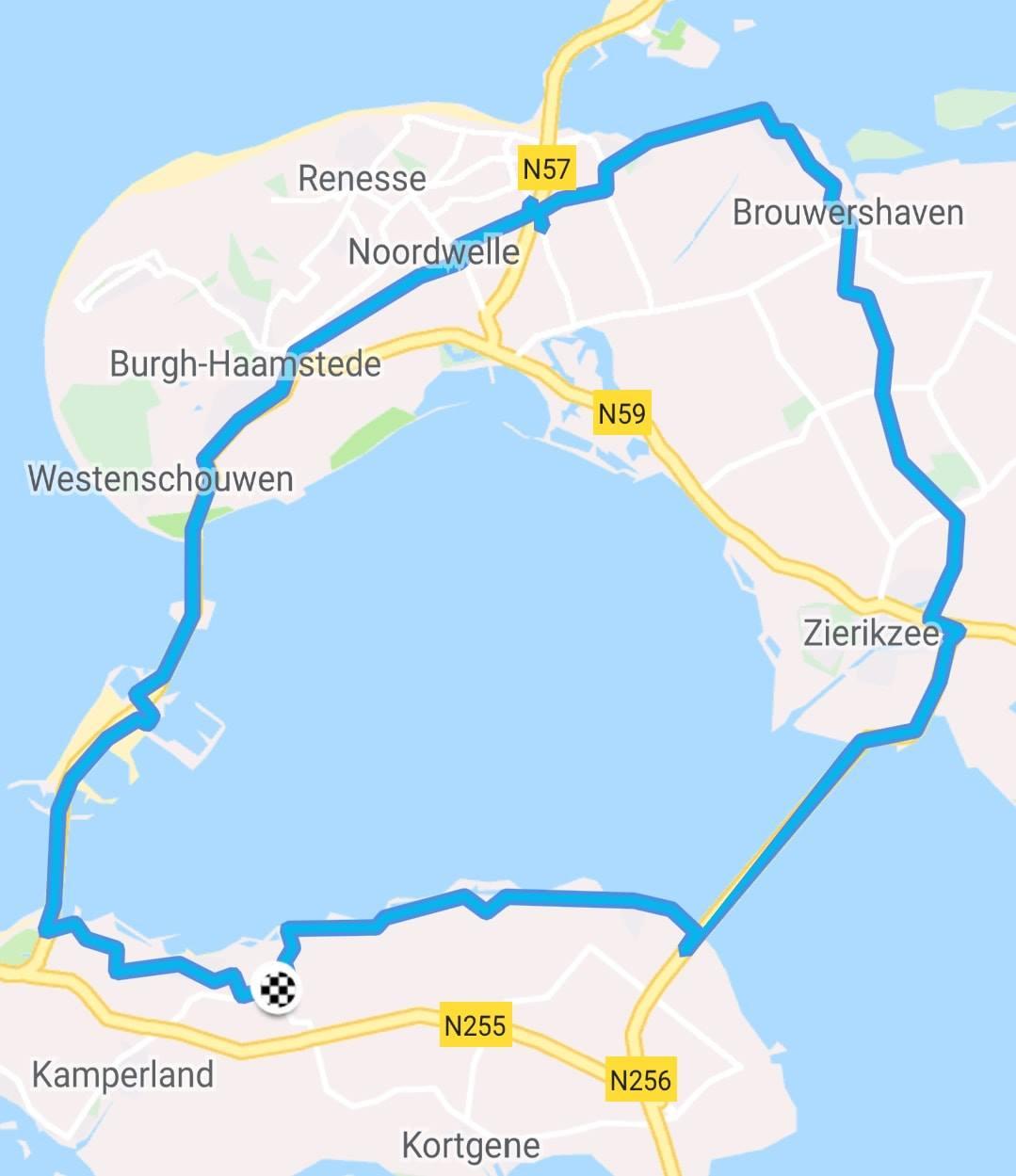 Dinsdag 25-09-2018 65 km 28,9 gem.