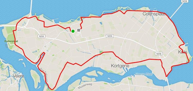 Donderdag 24-05-2018 Rondje Noord-Beveland 51 km 32,9 gem.