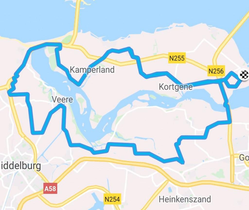 Donderdag 26-07-2018 63 km 32,5 gem.
