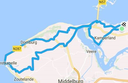 Donderdag 26-04-2018 64 km 30,5 gem.