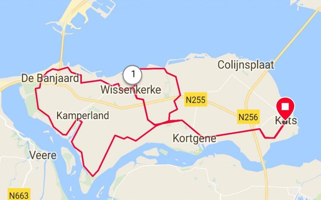 Donderdagavond 29-03-2018 klein rondje 33km