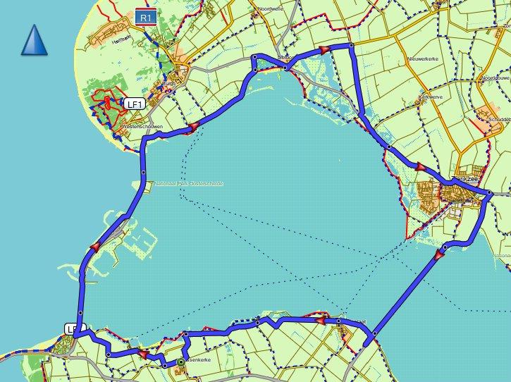Donderdagavondrit Toergroep 58 km 29,5 gem
