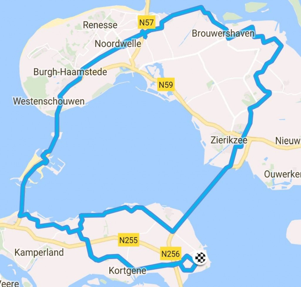 Route Toergroep 72 km 29,1 gem