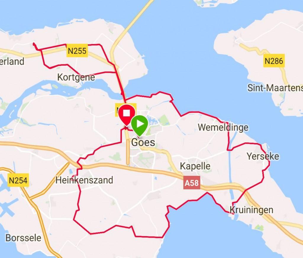 zondag 20-05-2018   Speedgroep  90 km  33 gem