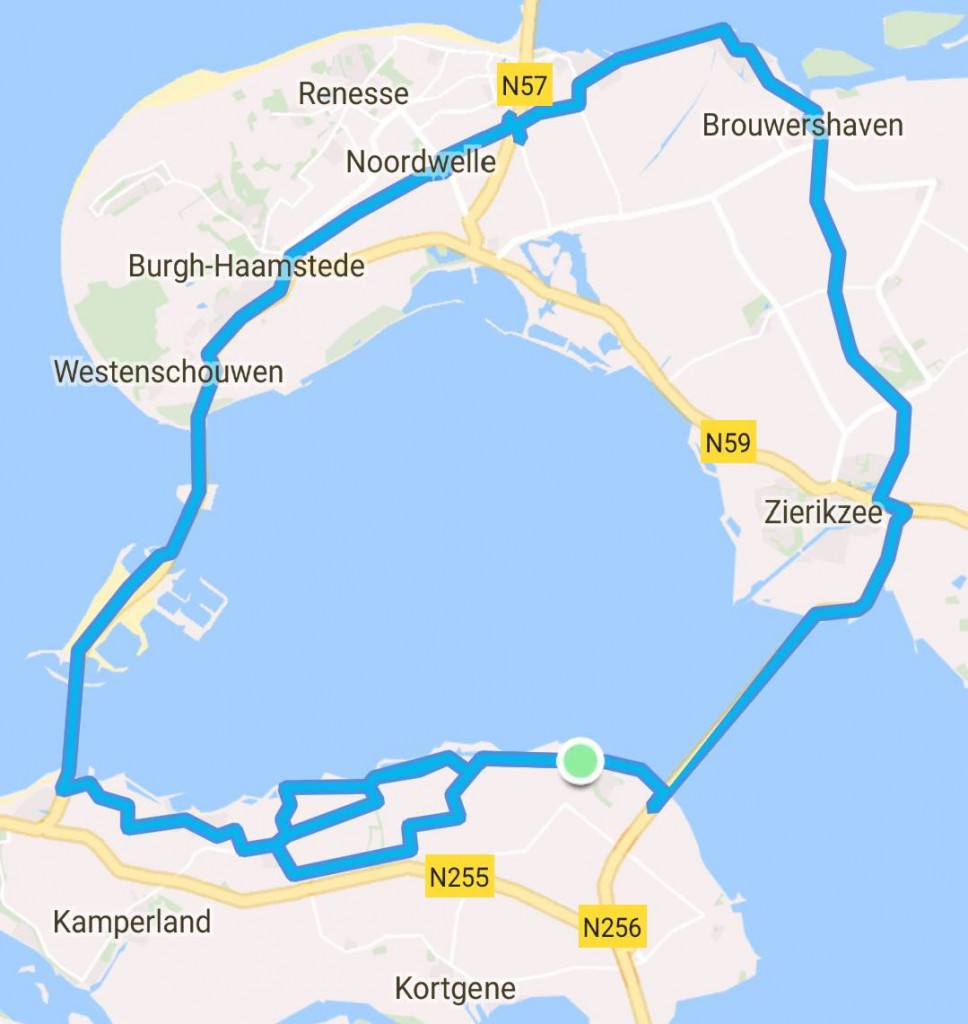Rondje Toergroep 65 km 27,5 gem.