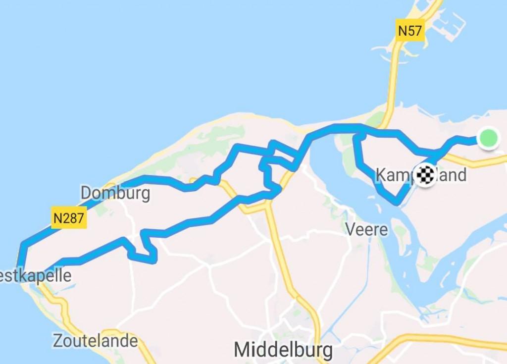 donderdag 21-06-2018 62 km 30,5 gem.