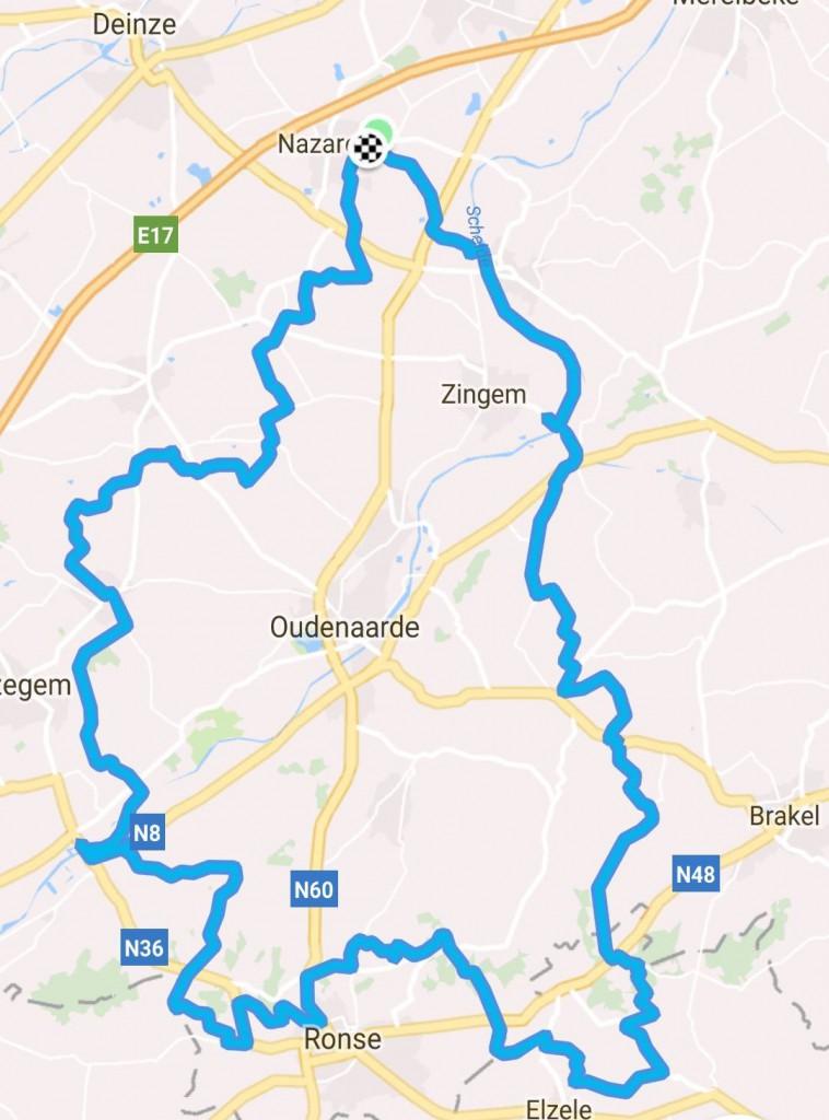 zaterdag 21-04-2018 101 km