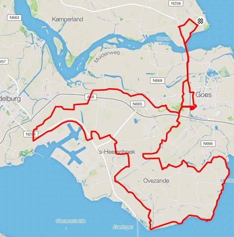 80 km route
