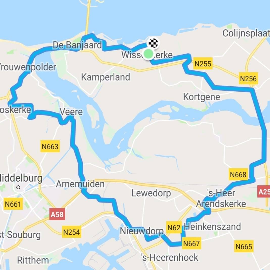 Dinsdag 04-06-2019 Rondje 65 km gem.27,5
